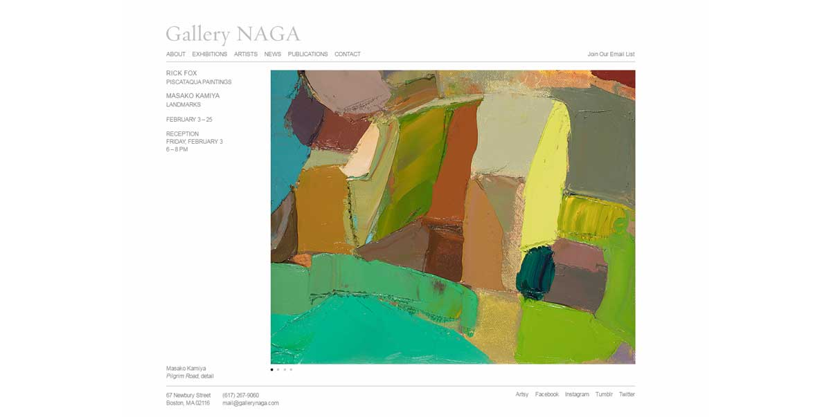 Gallery NAGA Art Gallery Website