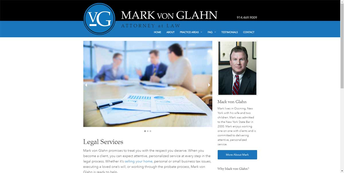 Mark von Glahn Attorney Website
