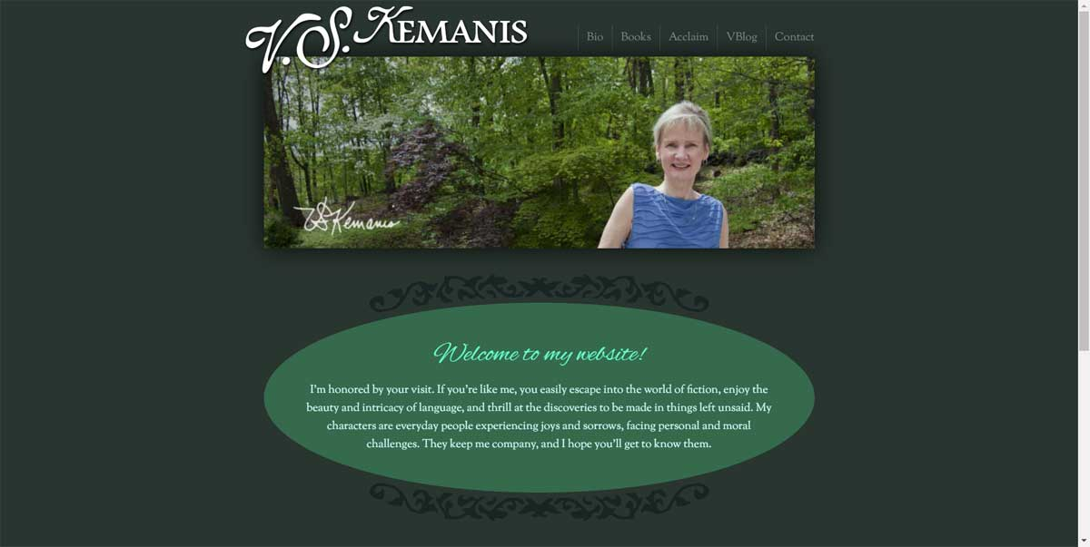 V.S. Kemanis Author Website