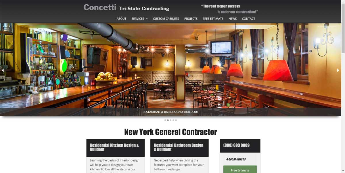 Buildiing Contractor Website
