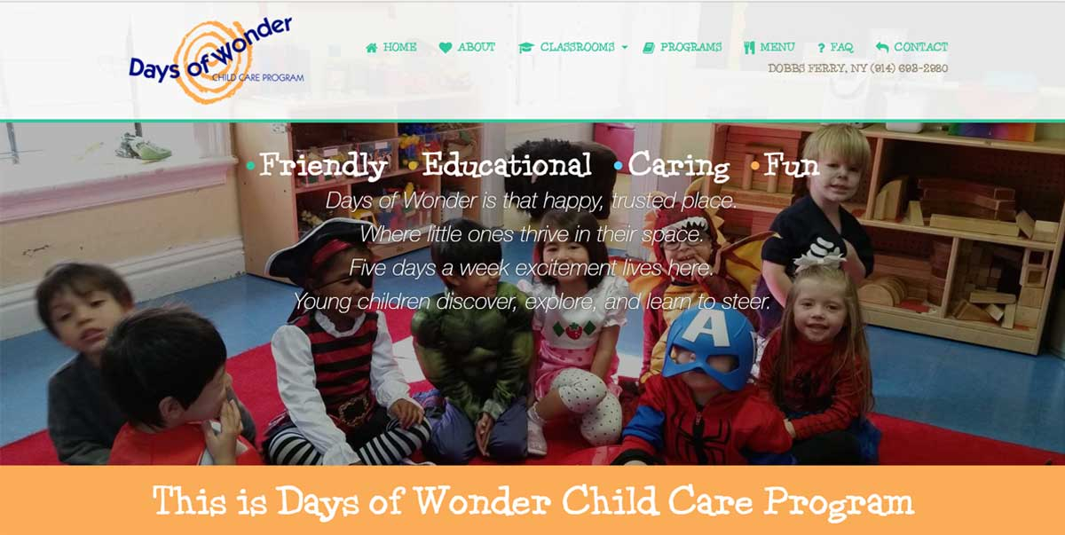 Days of Wonder Childcare Website