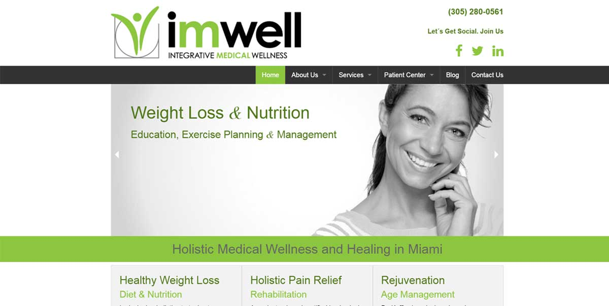 IMWELL Holistic Healing Website