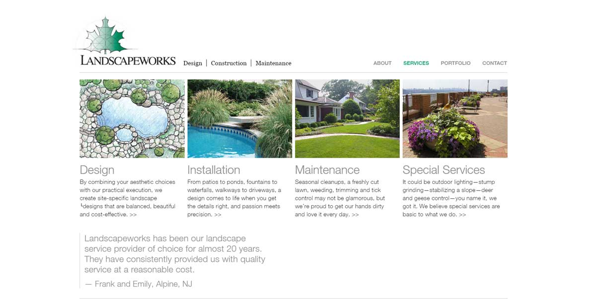 FARM Landscape Design Website